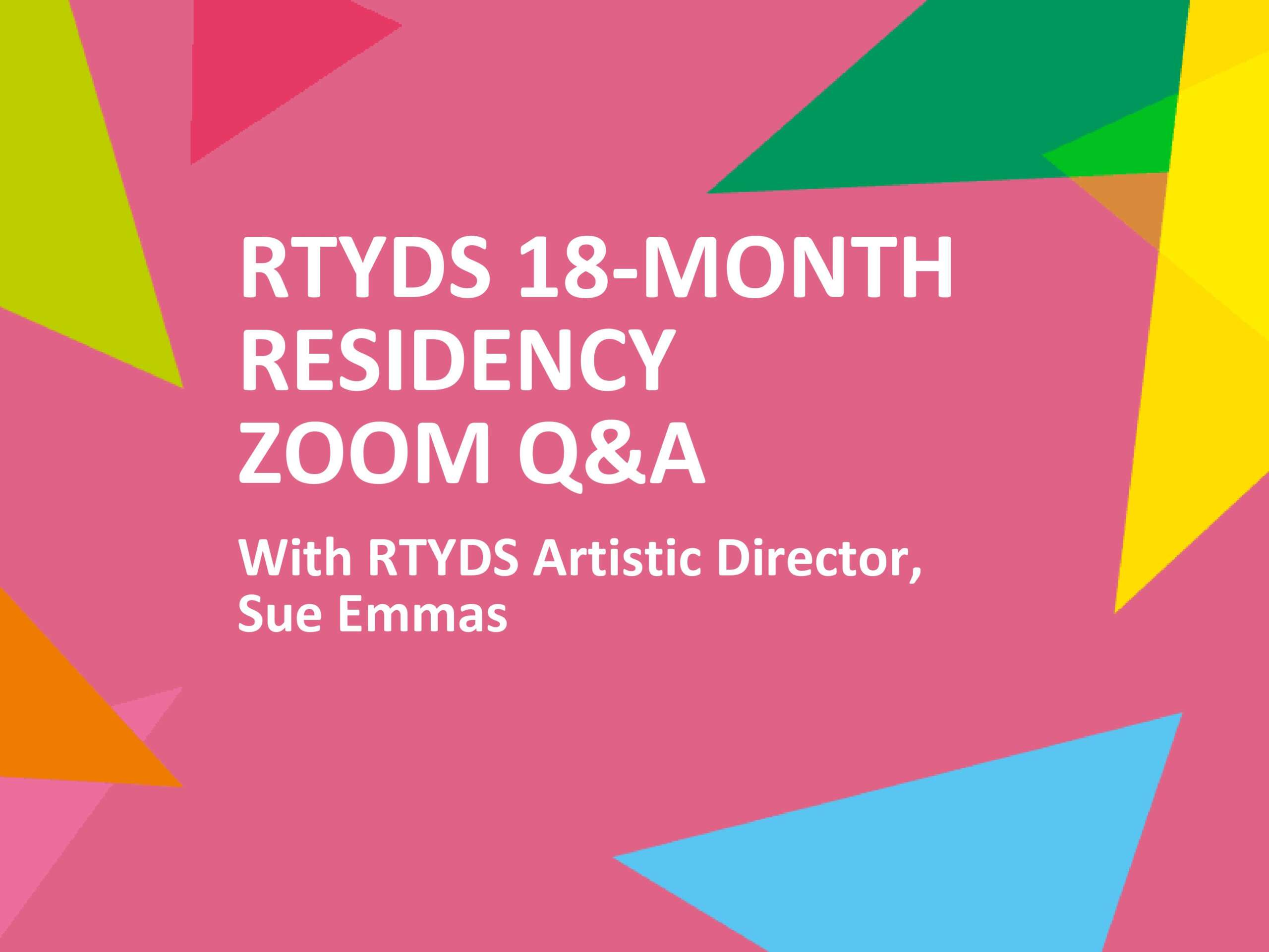 RTYDS 18-Month Residency Q&A - title image